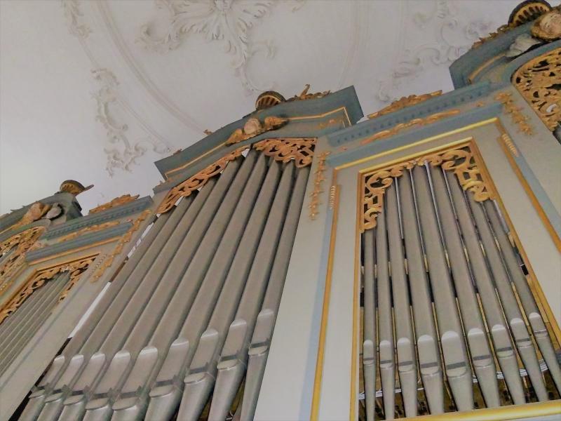 Orgel Musik zur Marktzeit